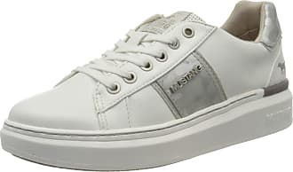 Mustang Womens 1351-304-121 Low-Top Sneakers, White (Weiß/Silber 121), 7.5 UK
