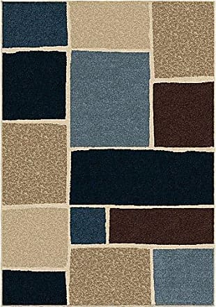 Orian Rugs Four Seasons Indoor/Outdoor Graycliff Area Rug, 52 x 76, Blue