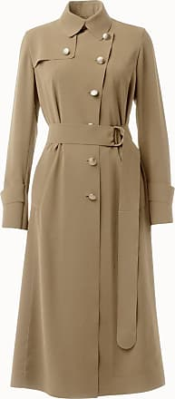 Akris Laser-Cut Crepe Trench Coat