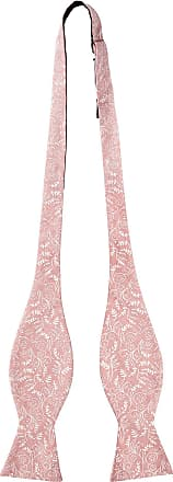Jacob Alexander Mens Self Tie Freestyle Floral Bow Tie - Dusty Rose