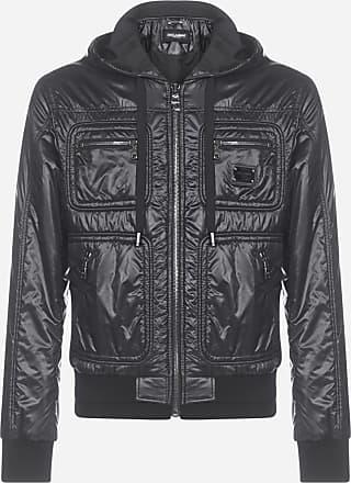 Dolce & Gabbana Logo-plaque glossy nylon hoode jacket - DOLCE & GABBANA - man