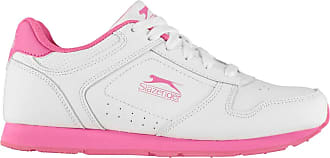 Slazenger Womens Classic Trainers Lace Up Padded Tongue Comfortable Fit Everyday White/Cerise UK 7 (40)
