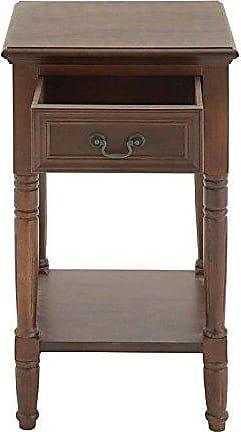 UMA Enterprises Inc. Deco 79 96193 Wood Side Table, 16 x 29, Chestnut