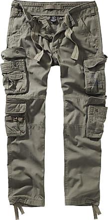 Brandit Pure Vintage Trouser II Men Cargo Trousers Olive XXL, 100% Cotton, Regular
