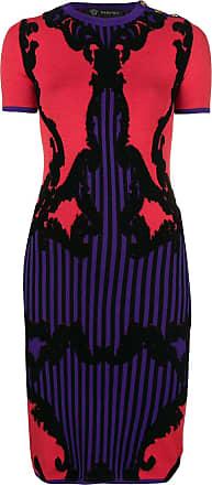 Versace intarsia-knit dress - Red