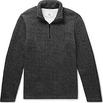 Reigning Champ Mélange Fleece-back Cotton-blend Jersey Half-zip Sweatshirt - Gray