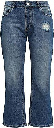 Each Other Each X Other Woman Distressed Mid-rise Kick-flare Jeans Mid Denim Size 24