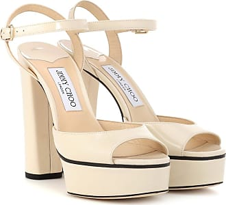 Jimmy Choo London Peachy 125 leather plateau sandals