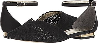 Adrianna Papell Womens TRALA Mary Jane Flat, Black attalie lace, 5.5 M US