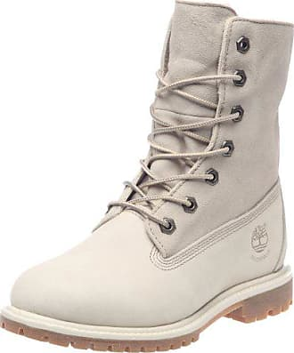 timberland authentics teddy fleece fold down boot damen stiefel weiss