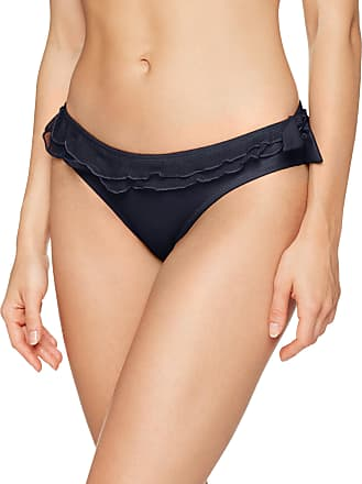 Pour Moi? Womens Mardi Gras Brief Bikini Bottoms, Black, (Size: 10)