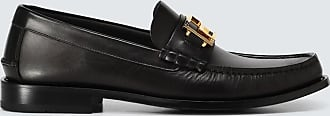 Versace Leather loafers with logo