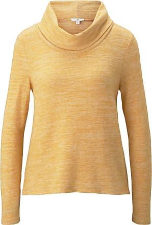Tom Tailor Sweater im 2-in-1-Look, Damen, merigold yellow melange, Größe: XL