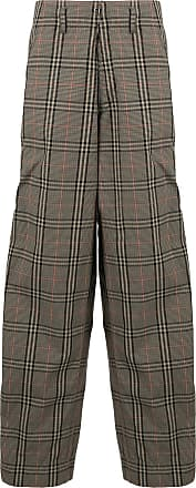 Kolor loose fit checked trousers - Brown