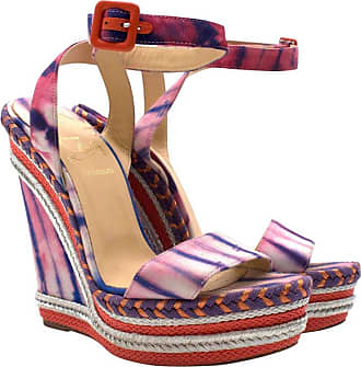 078fc98e28e1 Christian Louboutin Duplice Tie-die Espadrille Wedge Sandals Us 5