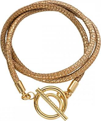 Acotis Limited Nikki Lissoni Metallic Vintage Reptile Leather 17cm Gold Plated Wrap B