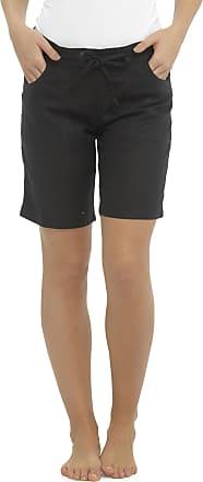 Tom Franks Ladies Black Linen Blend Mid Length Shorts Size 12