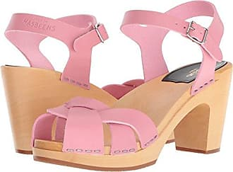 Swedish Hasbeens Womens Kringlan Heeled Sandal, Bubble Gum Pink, 36 Regular EU (36-6 US)