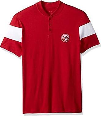 A|X Armani Exchange Mens Short Sleeve Organic Cotton Polo Shirt, Chili Pepper Red, M
