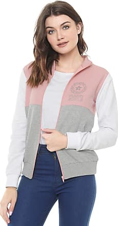 Planet Girls Moletom Aberto Planet Girls Recortes Rosa/Cinza