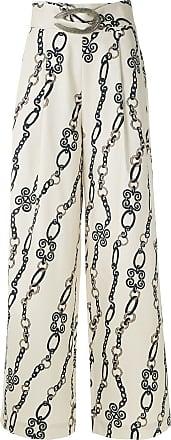 Framed Calça pantalona Chain - Neutro