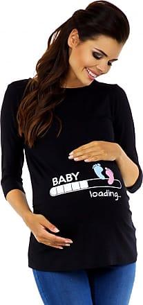 Zeta Ville Zeta Ville Maternity - Womens Pregnancy Funny Baby Feet Print T-Shirt Top 549c (Black, UK 18/20, 3XL)