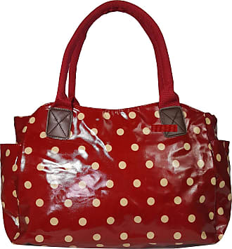 GFM Oilcloth Tote Shopper Day Bag Polka Dot (POLKA-4235-W01-BLLDDH)