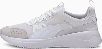Puma Nuage Run Cage Womens Trainers, White/Pw/Silver, size 3.5, Shoes