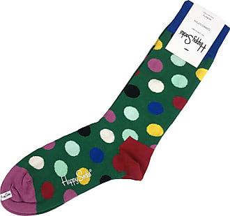 Happy Socks Unisex Big Dot Printed Socks (Green Multi, US Mens Shoe Size 8-12)