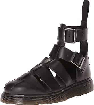 Dr. Martens Unisex Adults Geraldo Ankle Strap Sandals, Black (Black Brando 001), 3 UK (36 EU)