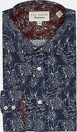 Ted Baker Floral Endurance Shirt in Navy CODDFI, Mens Clothing