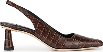 by FAR Sapato Diana Nutella com efeito de pele de crocodilo - Marrom