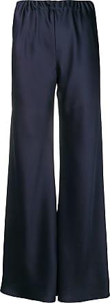 Blanca Calça flare de cetim - Azul
