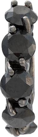 Jack Vartanian Piercing Voyeur com banho ouro branco e ródio negro e diamantes - Prateado