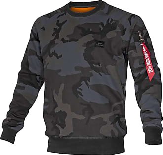Alpha Industries X-Fit Sweat Pullover black camo, Größe XXL