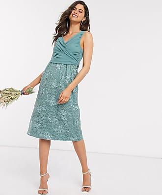 Little Mistress embroidered midi dress-Blue