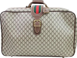 19b5b2f34d2ae Gucci Sherry Web Supreme Suitcase 866636 Beige Coated Canvas Weekend travel  Bag
