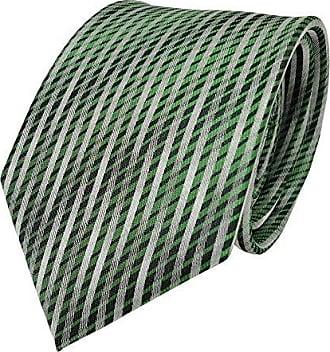 TigerTie Designer Seidenkrawatte türkis grün schwarz gestreift Krawatte Seide