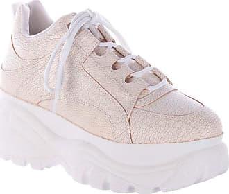 Damannu Shoes Tênis Buffalo Craquelê Branco - Cor: Branco - Tamanho: 35