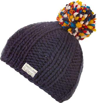 KuSan 100% Wool Bobble Beanie Hat PK1524 (Navy)