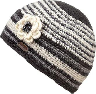 KuSan 100% Wool Lurex Crochet Beanie with Removable Flower (PK1721) (Grey)