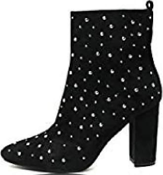 Ikrush Ikrush Womens Bambi Studded Heeled Ankle Boots Black UK 3