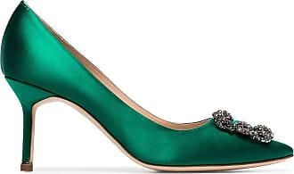 Manolo Blahnik Mules Hangisi con fibbia - Di colore verde