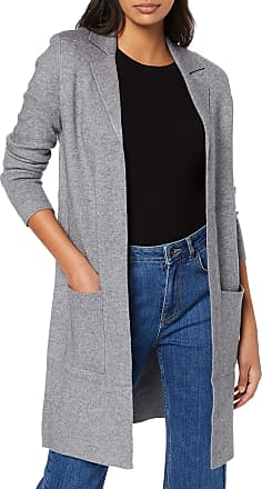 Vero Moda Womens Vmtasty Fullneedle Ls New Coatigan Noos Coat, Grey (Medium Grey Melange Medium Grey Melange), 8 (Size: X-Small)
