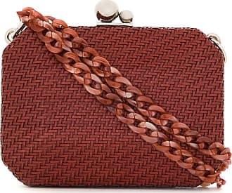 Isla Mini bolsa de couro tressê - Vermelho