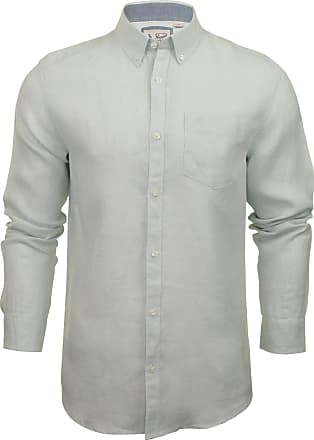Original Penguin Mens Shirt Core Washed Line - Long Sleeved (Pastel Blue) L