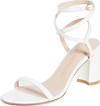 Stuart Weitzman Stuart Weitzman Womens Merinda Block Sandals, White, 11 Medium US