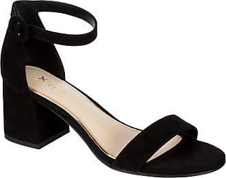 Xappeal Womens Hartley - Faux Suede Block Heel Ankle Strap Sandal Dress Shoe Black Size: 6.5 UK