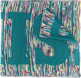 Missoni Cachecol de tricô com logo - Azul