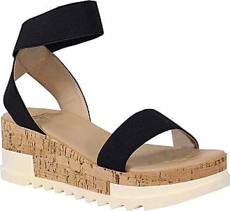 Yoki Womens BRENDA-10 Flat Sandal, Black, 5.5 UK